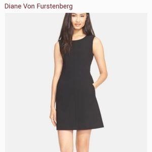 DIANE VON FURSTENBERG Black CARPREENA Mini Dress